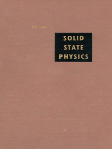 Ebook in inglese Solid State Physics V12 -, -