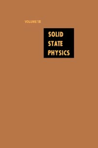 Ebook in inglese Solid State Physics V18 -, -