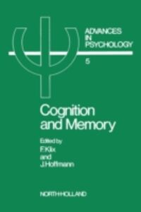 Foto Cover di Cognition and Memory, Ebook inglese di  edito da Elsevier Science