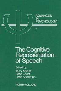 Ebook in inglese Cognitive Representation of Speech -, -