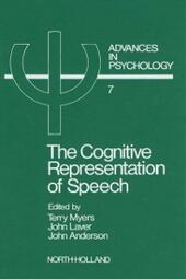 Cognitive Representation of Speech