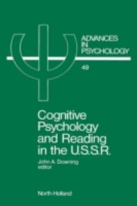 Foto Cover di Cognitive Psychology and Reading in the USSR, Ebook inglese di  edito da Elsevier Science