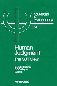 Foto Cover di Human Judgment, Ebook inglese di  edito da Elsevier Science