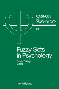 Ebook in inglese Fuzzy Sets in Psychology -, -