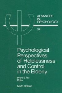 Ebook in inglese Psychological Perspectives of Helplessness and Control in the Elderly