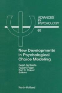 Ebook in inglese New Developments in Psychological Choice Modeling