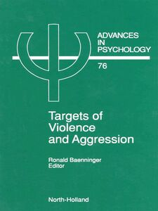 Foto Cover di Targets of Violence and Aggression, Ebook inglese di R. Baenninger, edito da Elsevier Science