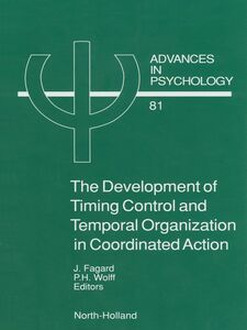 Ebook in inglese The Development of Timing Control and Temporal Organization in Coordinated Action