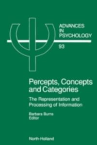 Ebook in inglese Percepts, Concepts and Categories