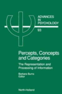 Ebook in inglese Percepts, Concepts and Categories -, -