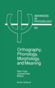 Ebook in inglese Orthography, Phonology, Morphology and Meaning -, -