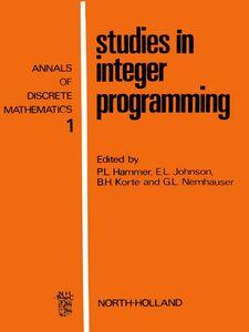 Ebook in inglese Studies in integer programming