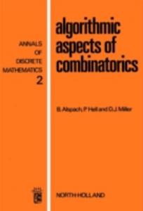Ebook in inglese Algorithmic aspects of combinatorics -, -