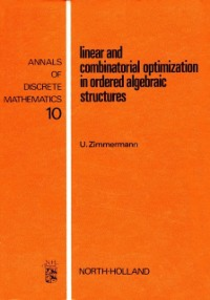 Ebook in inglese Linear and combinatorial optimization in ordered algebraic structures -, -