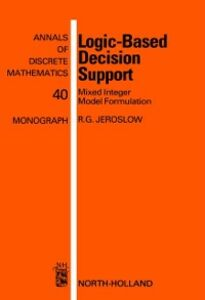 Ebook in inglese Logic-Based Decision Support Jeroslow, R.G.
