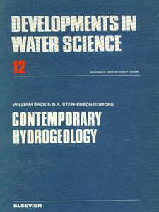 Ebook in inglese Contemporary hydrogeology -, -