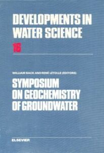Ebook in inglese Symposium on Geochemistry of Groundwater -, -