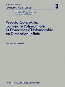 Ebook in inglese Pseudo-convexite?, convexite? polynomiale et domaines d?holomorphie en dimension infinie