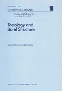 Foto Cover di Topology and Borel structure, Ebook inglese di  edito da Elsevier Science