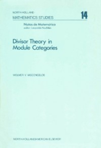 Ebook in inglese Divisor theory in module categories -, -