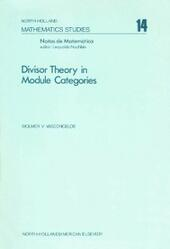 Divisor theory in module categories