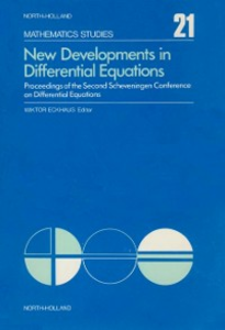 Ebook in inglese New developments in differential equations -, -
