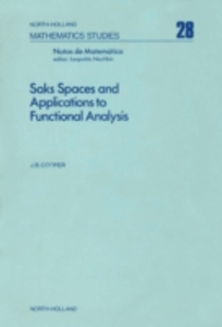 Ebook in inglese Saks spaces and applications to functional analysis -, -