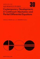 Contemporary developments in continuum mechanics and partial differential equations