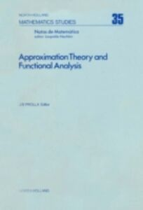 Foto Cover di Approximation theory and functional analysis, Ebook inglese di  edito da Elsevier Science