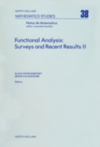 Ebook in inglese Functional Analysis: Surveys and Recent Results II -, -