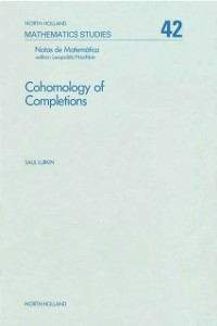 Ebook in inglese Cohomology of completions -, -