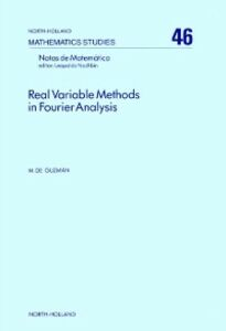 Foto Cover di Real variable methods in Fourier analysis, Ebook inglese di  edito da Elsevier Science