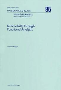 Foto Cover di Summability Through Functional Analysis, Ebook inglese di A. Wilansky, edito da Elsevier Science