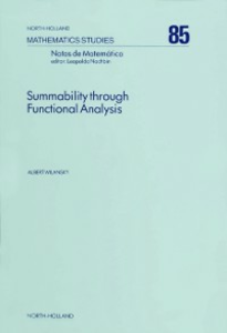 Ebook in inglese Summability Through Functional Analysis Wilansky, A.