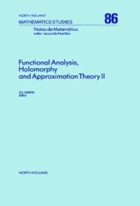 Ebook in inglese Functional Analysis, Holomorphy and Approximation Theory II -, -