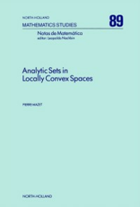 Ebook in inglese Analytic Sets in Locally Convex Spaces Mazet, P.
