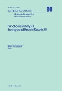 Foto Cover di Functional Analysis: Surveys and Recent Results III, Ebook inglese di  edito da Elsevier Science