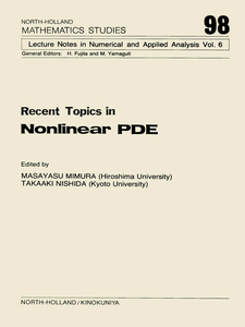 Ebook in inglese Recent Topics in Nonlinear PDE -, -