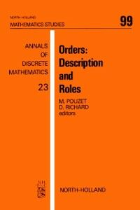 Ebook in inglese Orders: Description and Roles -, -