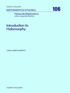 Ebook in inglese Introduction to Holomorphy Barroso, J.A.