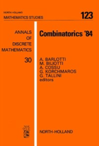 Ebook in inglese Combinatorics '84 -, -