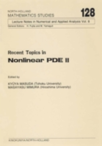 Ebook in inglese Recent Topics in Nonlinear PDE II -, -