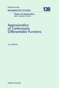 Ebook in inglese Approximation of Continuously Differentiable Functions Llavona, J.G.