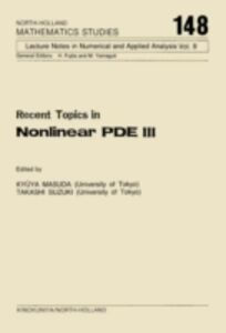 Ebook in inglese Recent Topics in Nonlinear PDE III