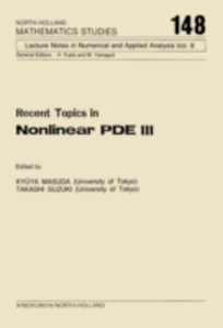 Ebook in inglese Recent Topics in Nonlinear PDE III -, -