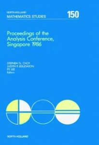 Ebook in inglese Proceedings of the Analysis Conference, Singapore 1986 -, -