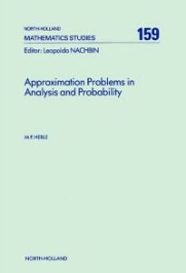 Ebook in inglese Approximation Problems in Analysis and Probability Heble, M.P.