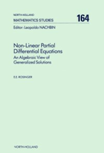 Ebook in inglese Non-Linear Partial Differential Equations Rosinger, E.E.