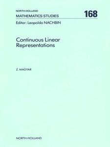 Ebook in inglese Continuous Linear Representations Magyar, Z.
