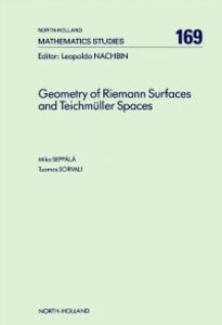 Foto Cover di Geometry of Riemann Surfaces and Teichmüller Spaces, Ebook inglese di M. Seppala,T. Sorvali, edito da Elsevier Science